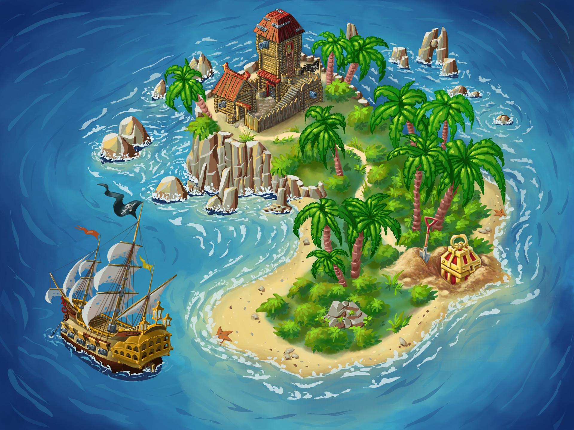 Картинки островов в океане детские
