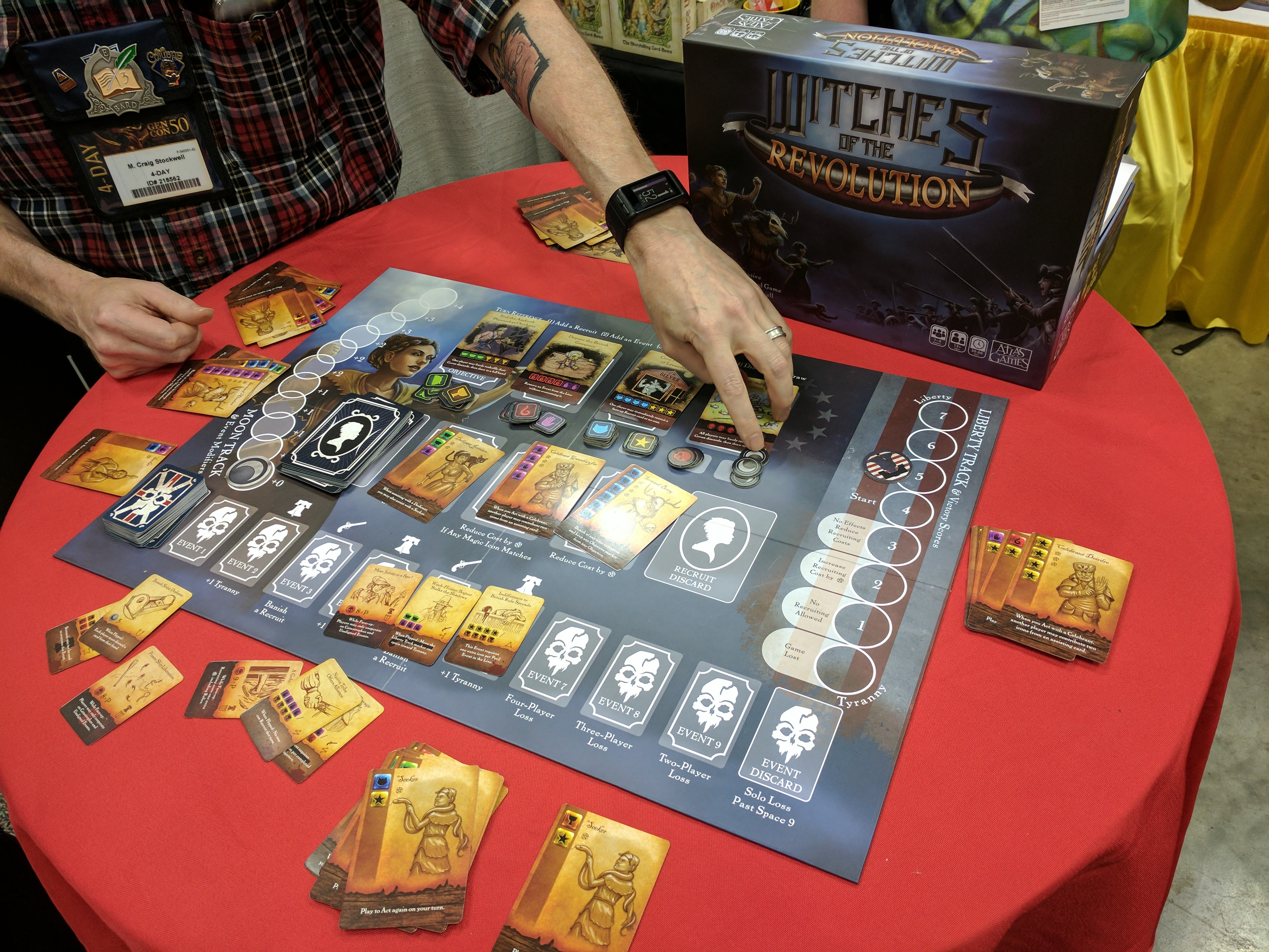 Craig Stockwell (the game designer) demoing the game at Gen Con 2017.