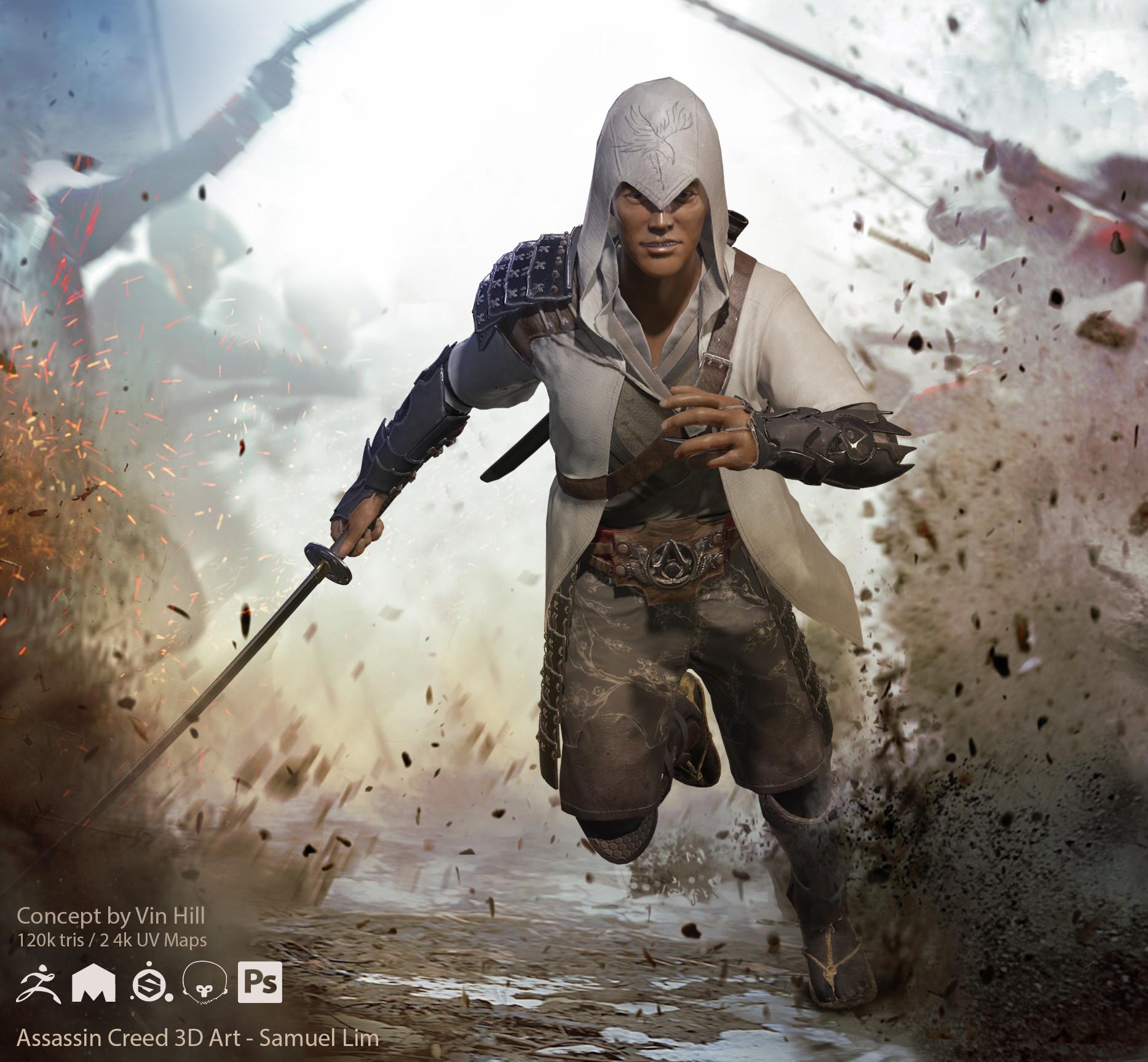 Artstation Assassins Creed 3d Fan Art Samuel Lim