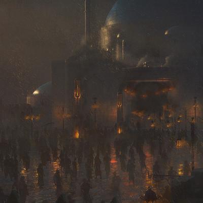 Josu solano nighttime painting