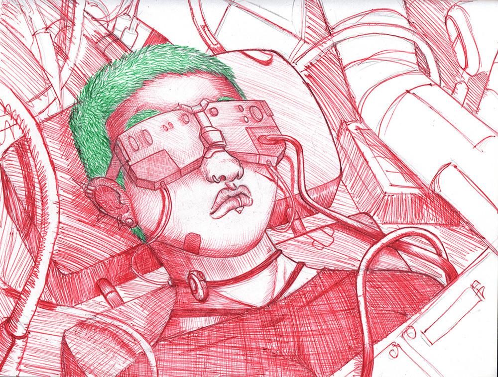 Hector sanchez hector sanchez futuristic girl pen web