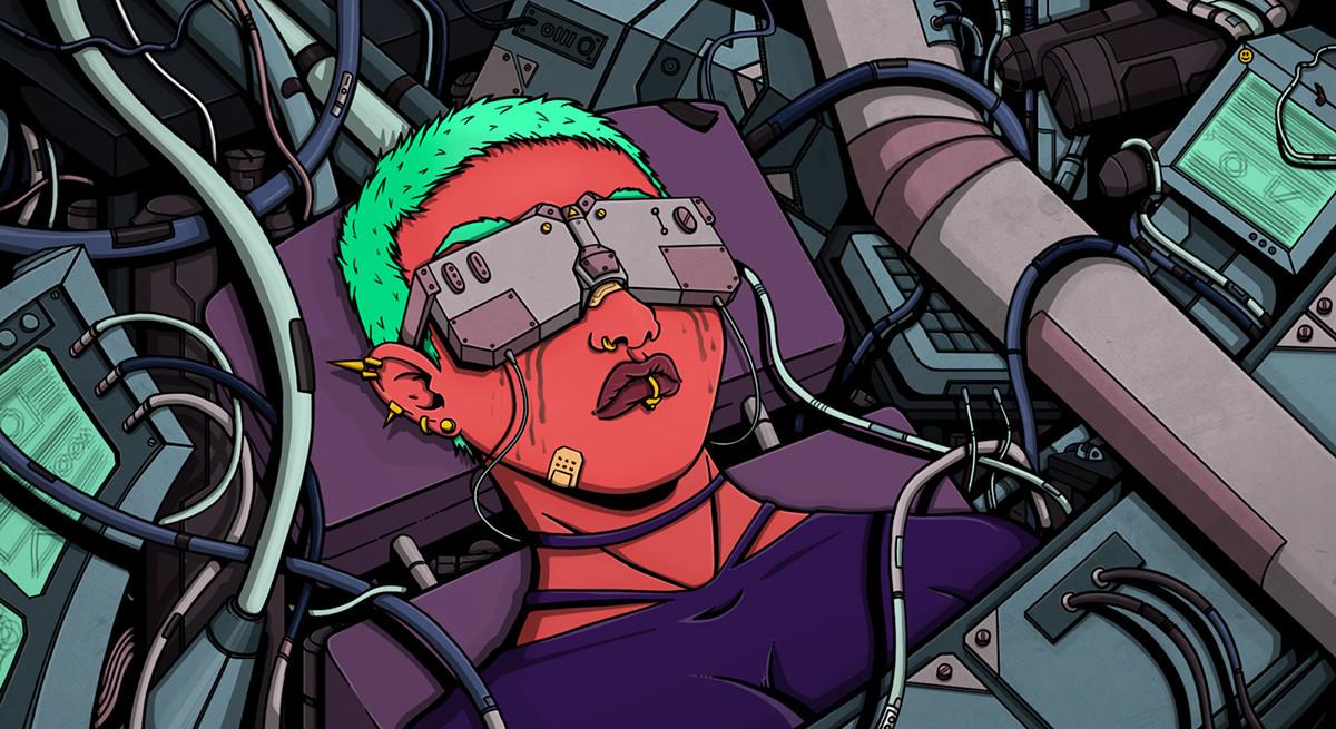 Hector sanchez hector sanchez futuristic girl web
