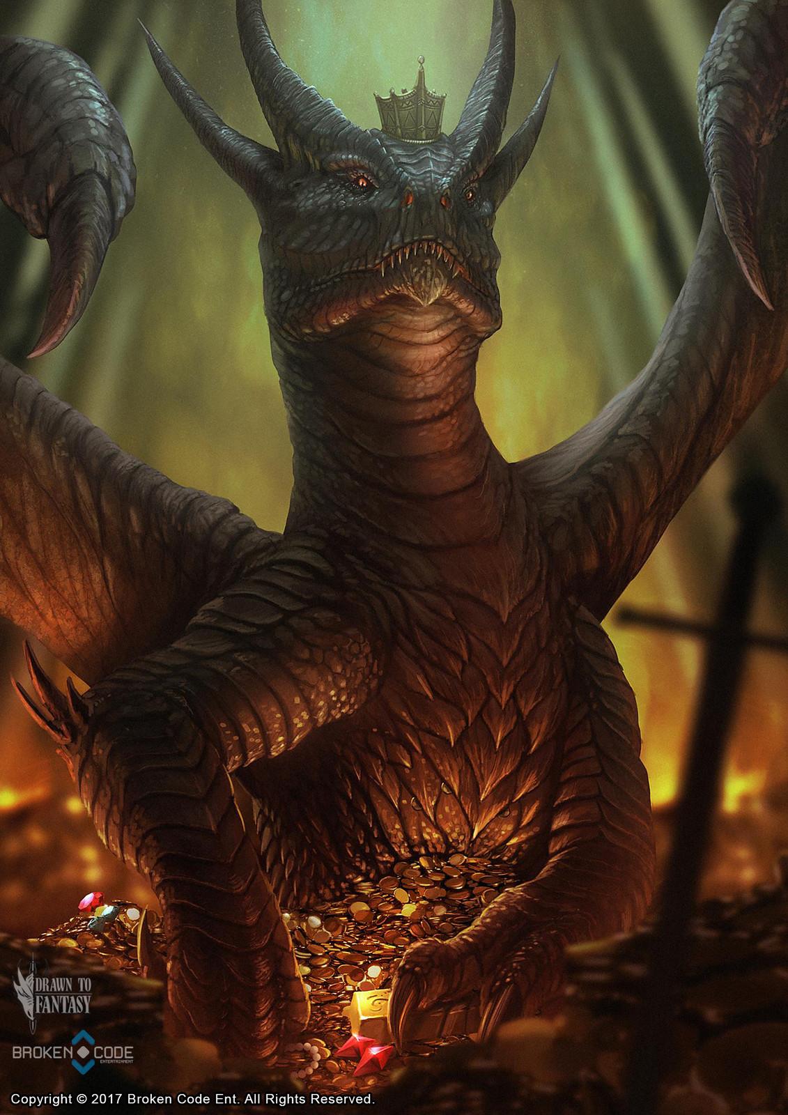 Dragon Of Greed - Game Card