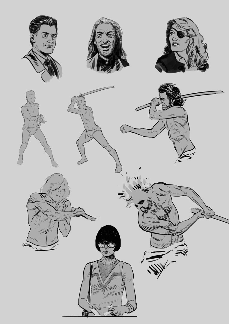 Twin Peaks, sword fight and Sense8