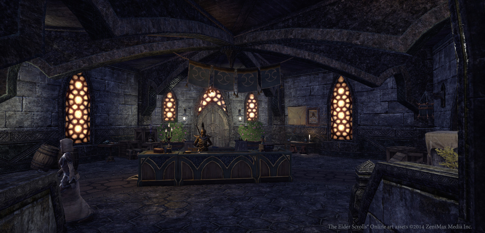Dunmer kinhouse interior. Textures by Neal jany. Characters by others.