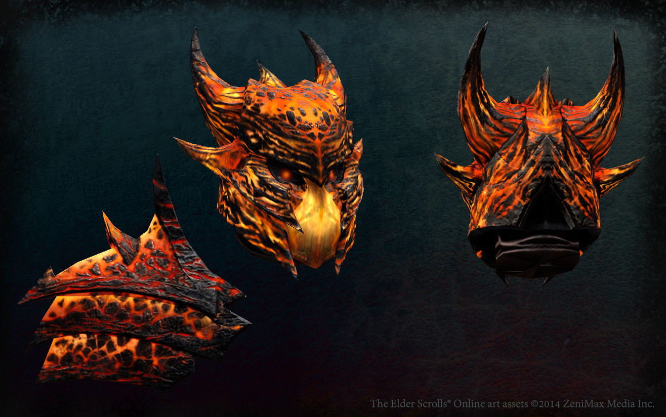 Magma helmet and pauldron, special player armor