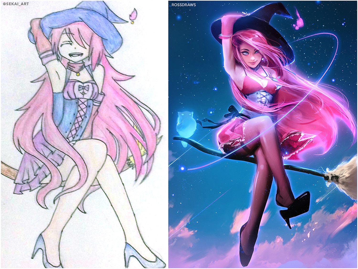 Ross tran witch before after final