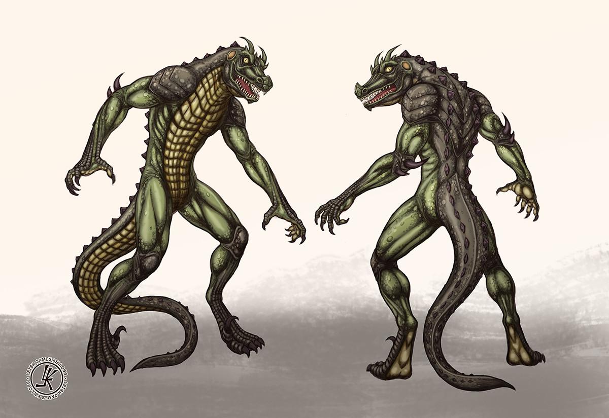 Leigh Kellogg Lizard Man Concept