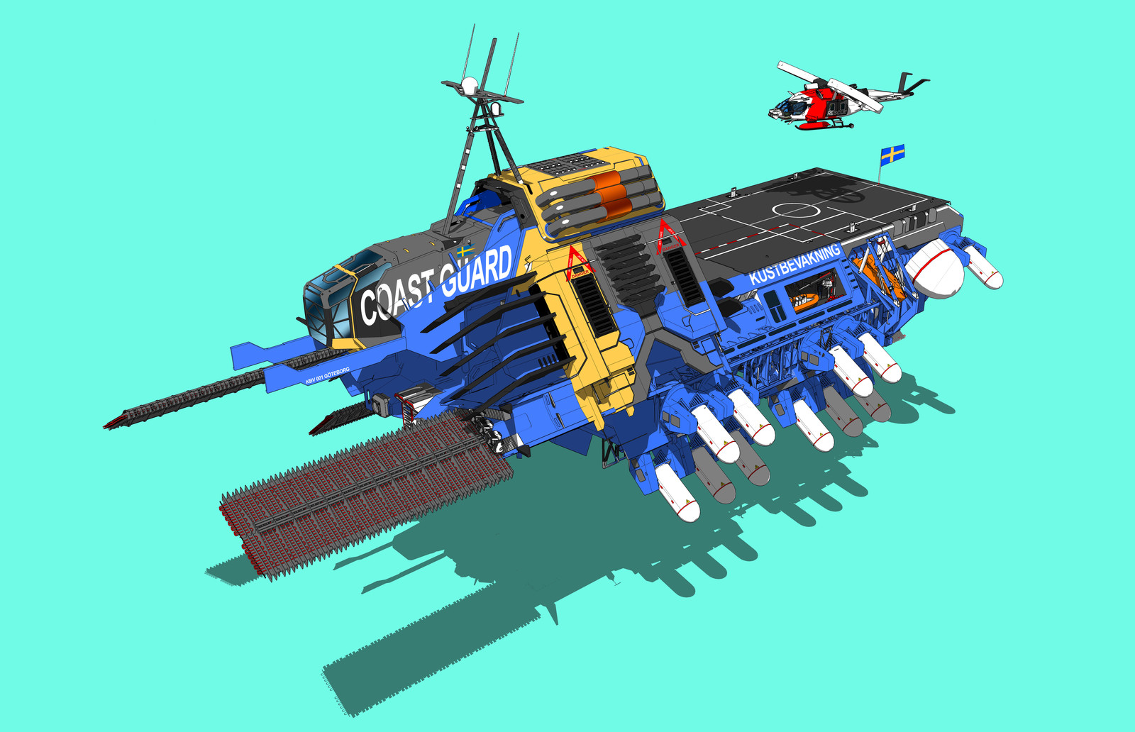 Swedish Coastguard Hovercraft