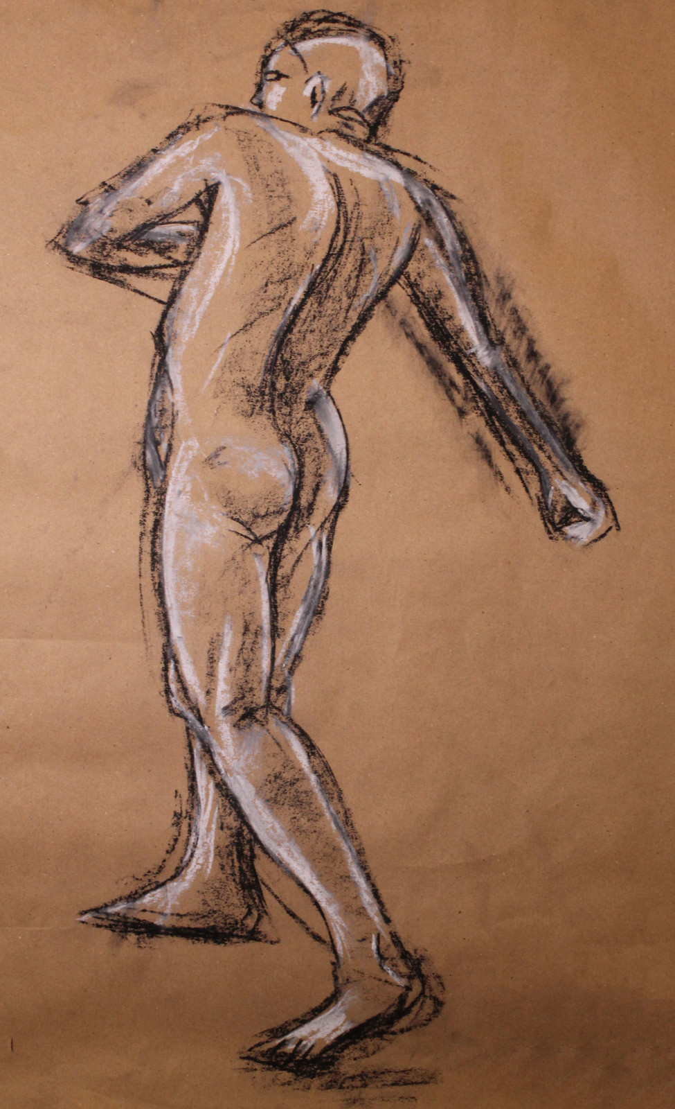charcoal drawing of man