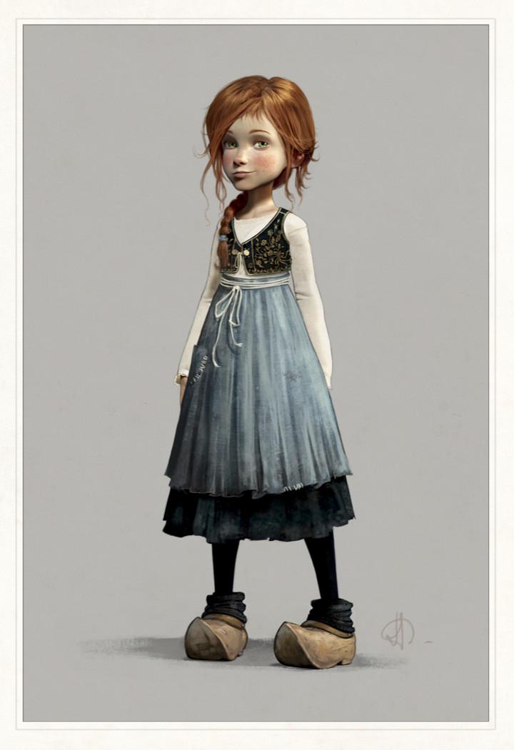 Felicie -Character design board
