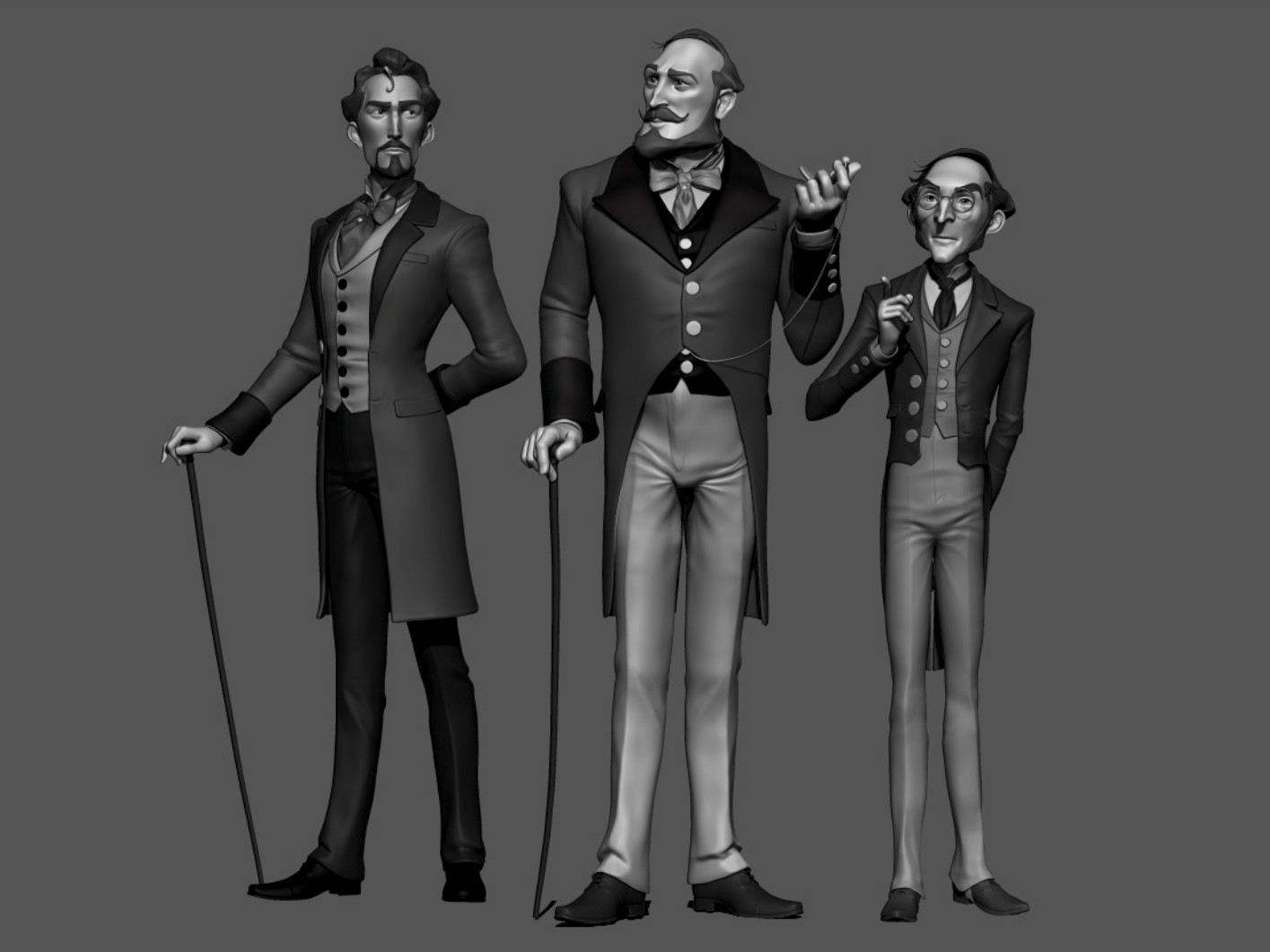 3 of the Characters in Zbrush