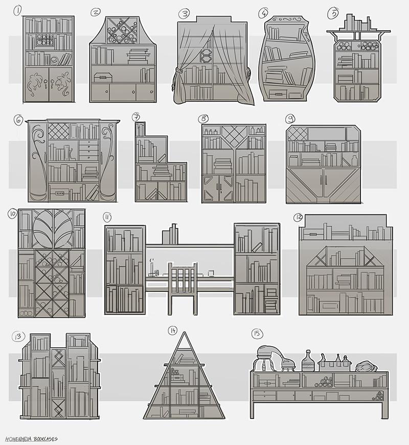 Bookcase concepts