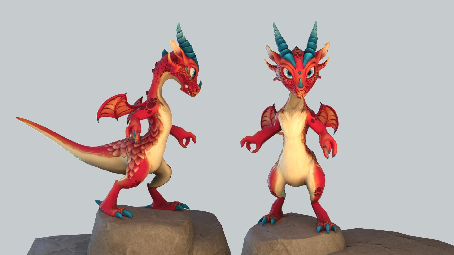 ArtStation - Red Dragon, Nataly Lepler