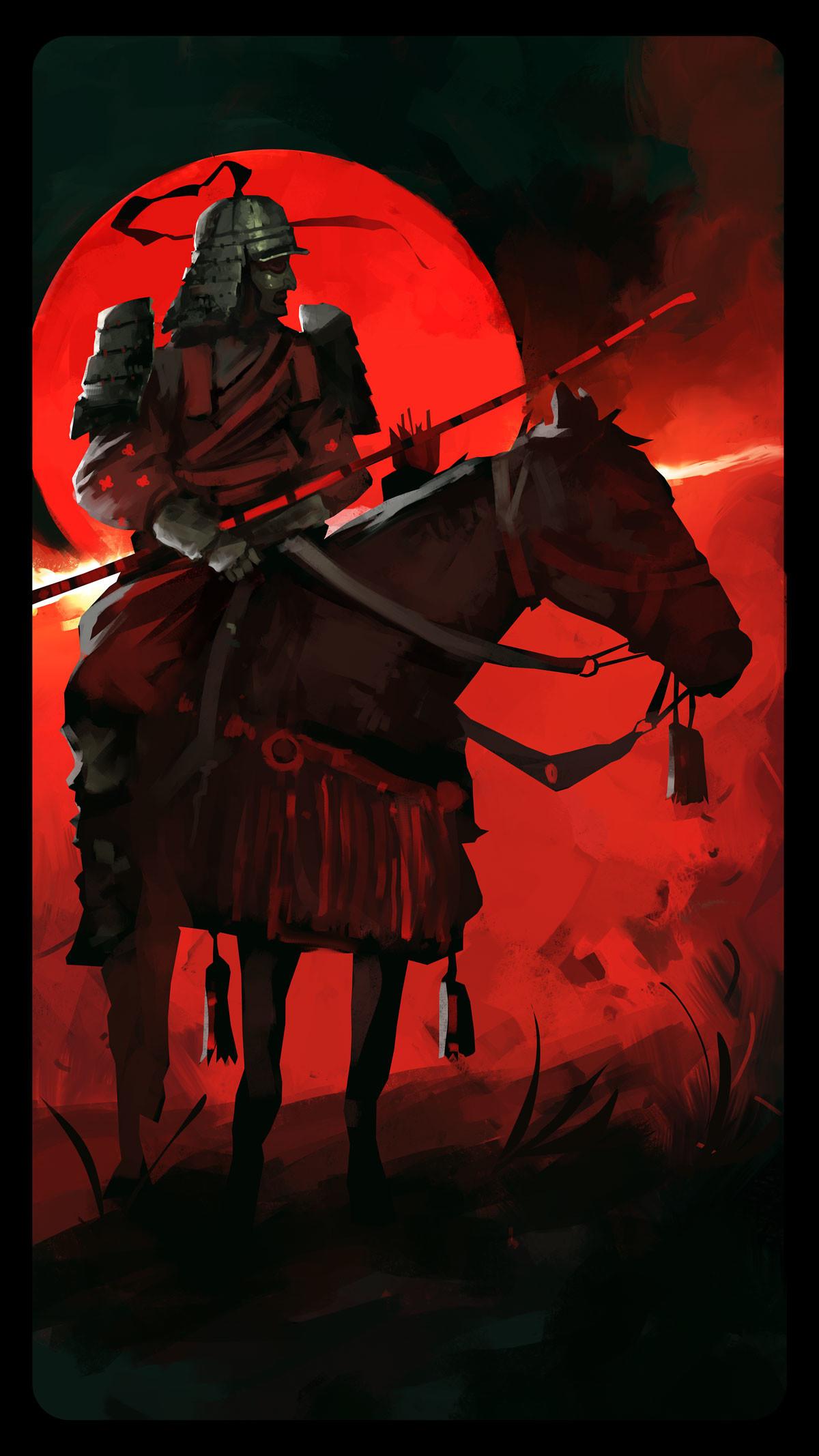 Dominik mayer samurai archer back render 01