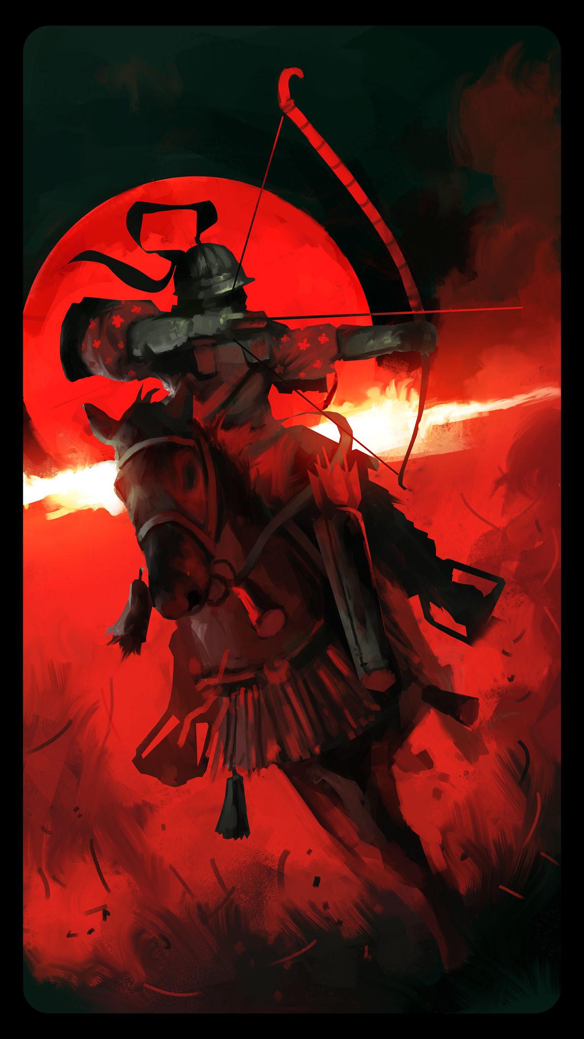 Dominik mayer samurai archer front render 01