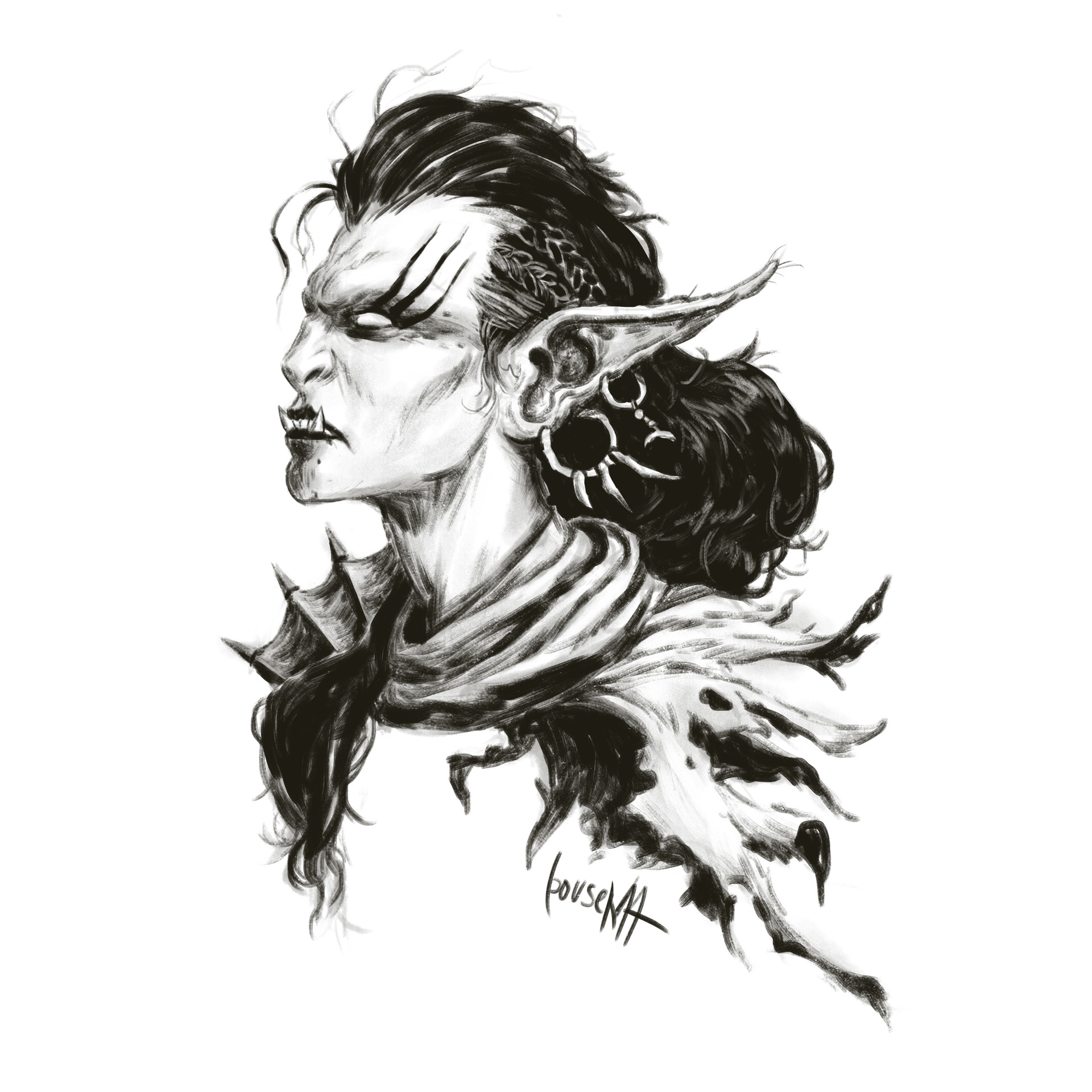 James bousema lady orc sketches