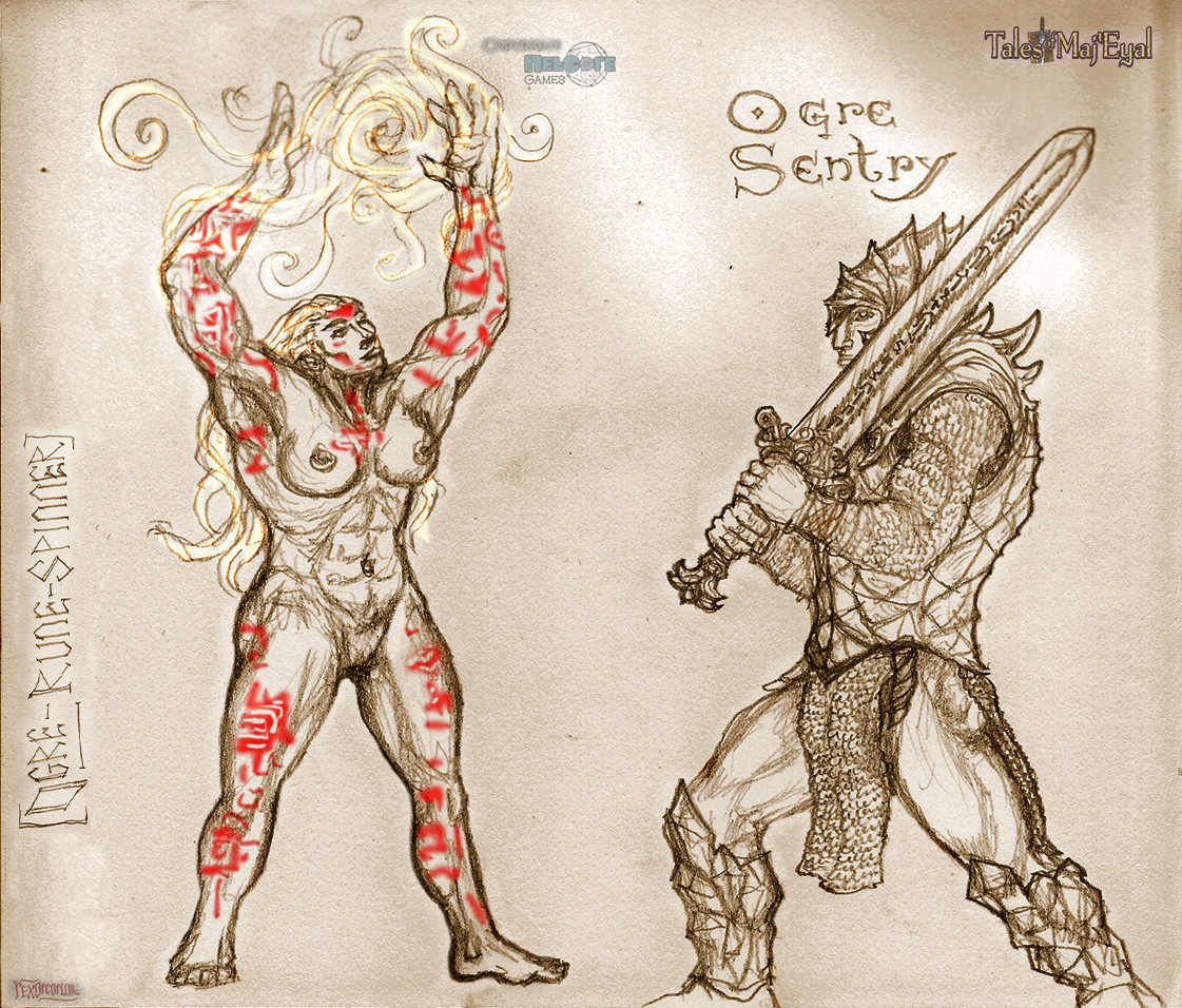 Ogre npc's concept. These two I like best
