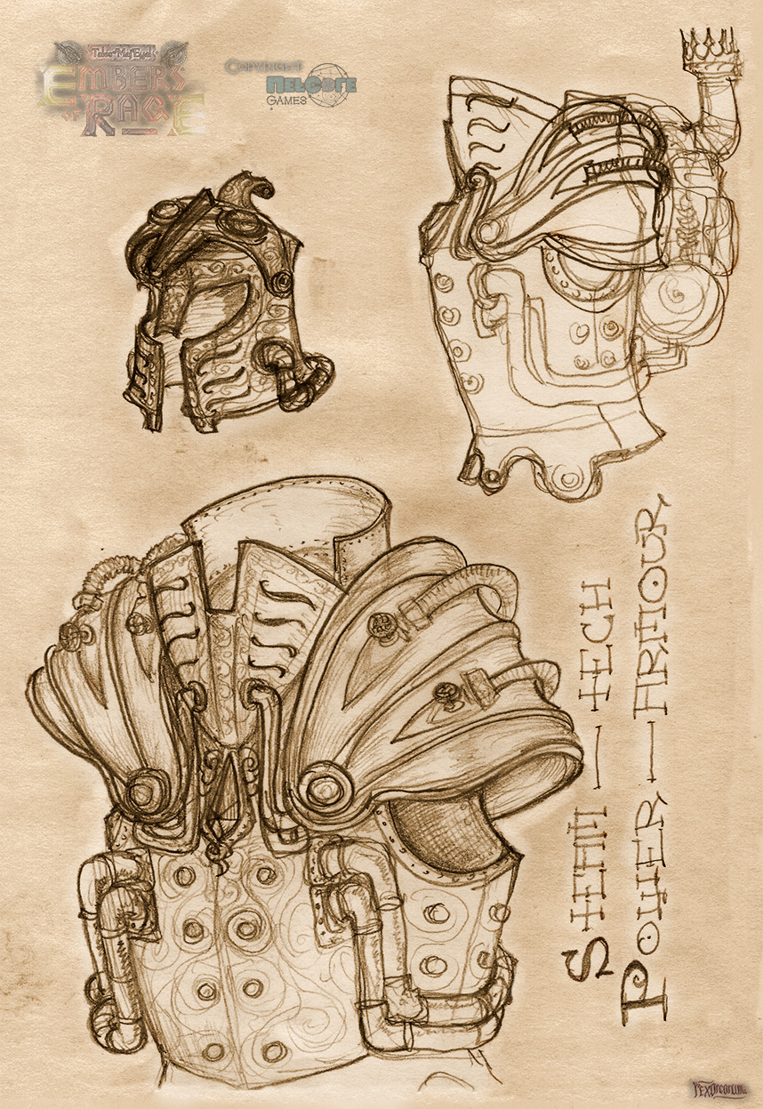 Steam Power armour helmet and plate
