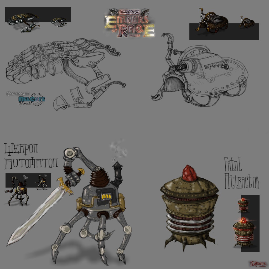 Various tinkers with bigger concept pics I