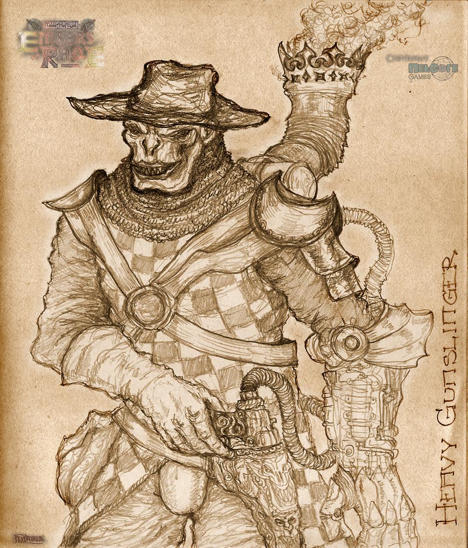 Heavy gunslinger orc