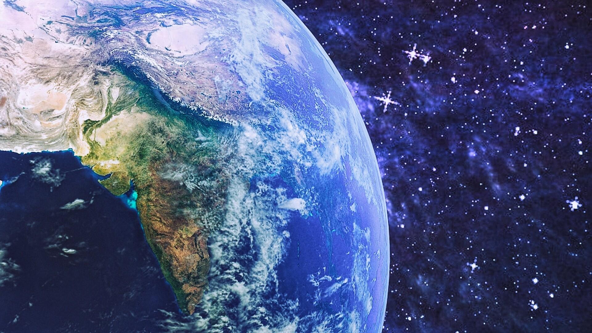 Картинки земля из космоса на рабочий стол