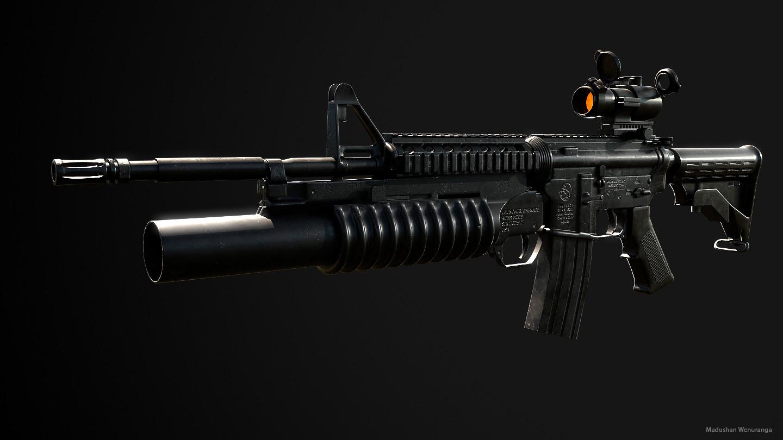 ArtStation - Colt M4 Carbine, Madushan Wenuranga