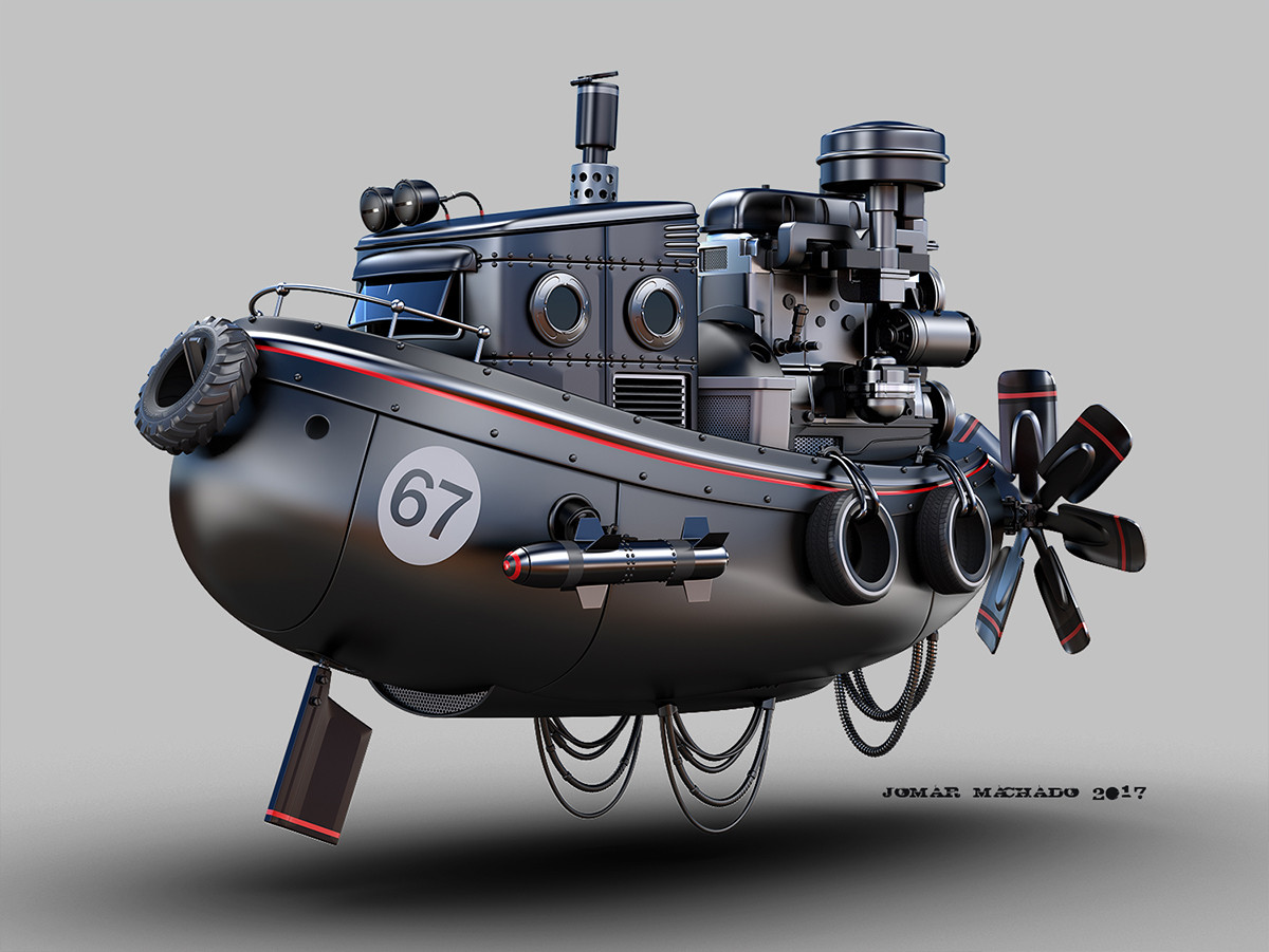 Jomar machado flying tug boat peq