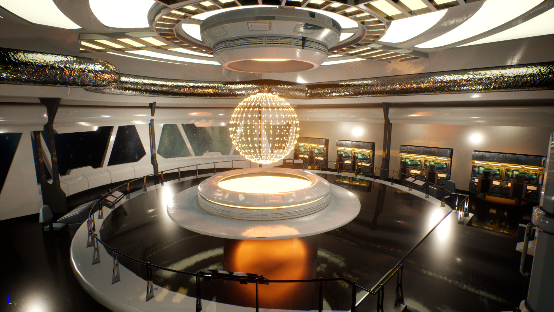 Alan Calleja Sci Fi Spaceship Bridge