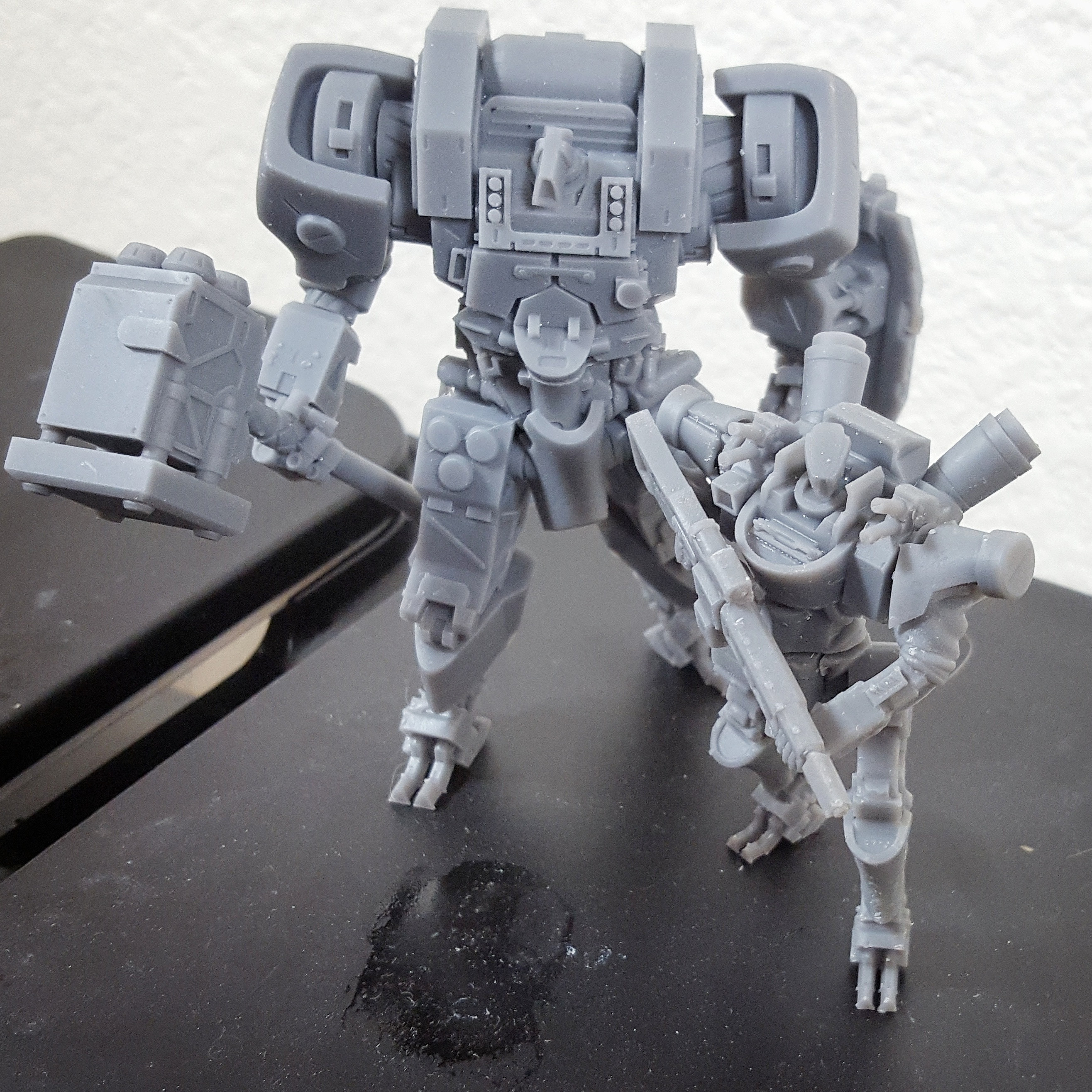 Example print next to the hammer guard