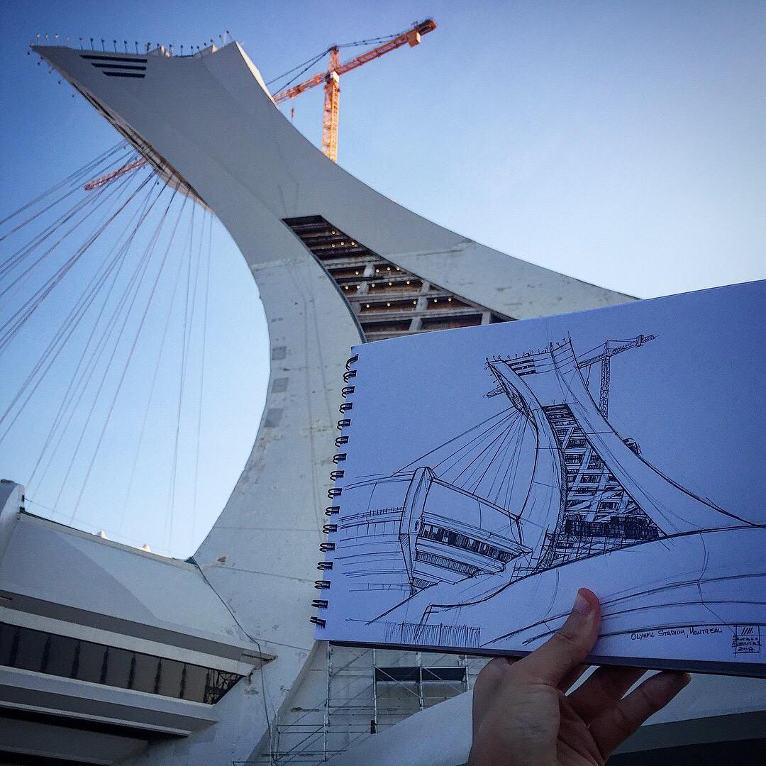 Olympic Stadium, Montreal.