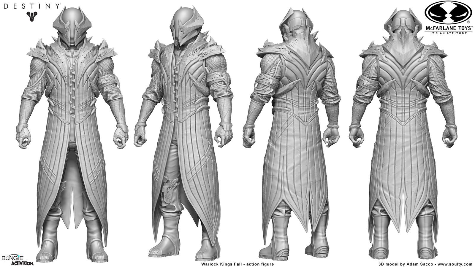 3D Model _ Mcfarlane Toys - Destiny: Warlock Kings Fall - Action figure