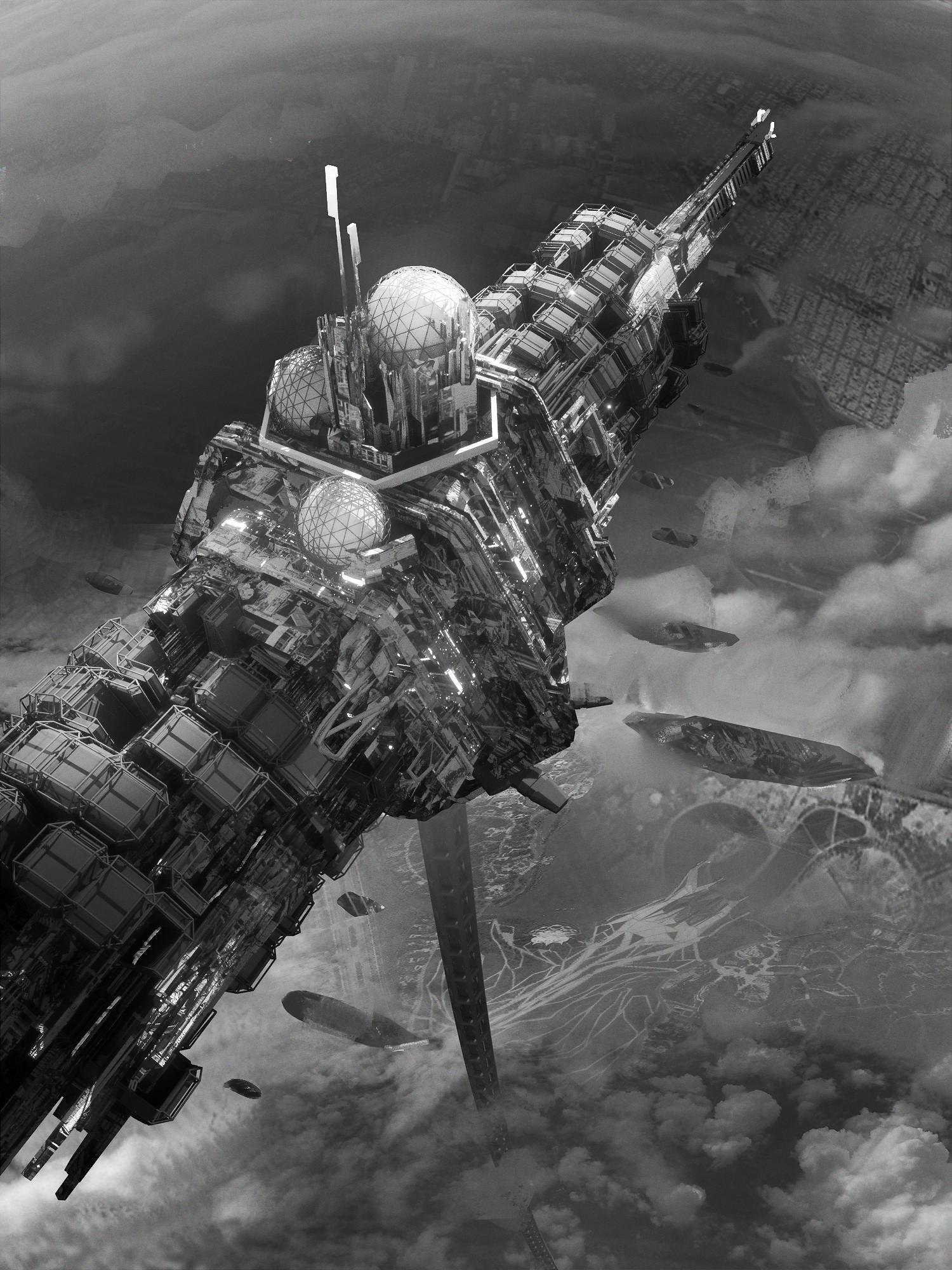 Leon tukker ej spaceelevator sketch