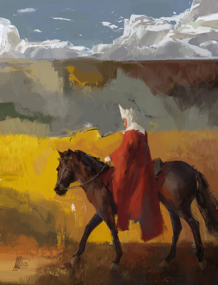 Sina pakzx kasra red cape white crown
