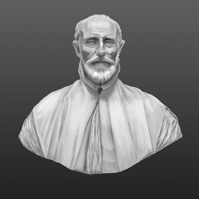 Alberto galante 6 grisalla busto griego