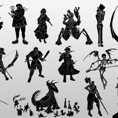 Alberto galante 8 thumnails siluetas de personajes