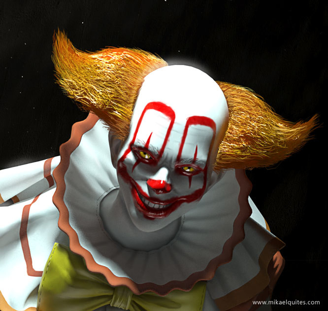 Mikael quites pennywise closeface
