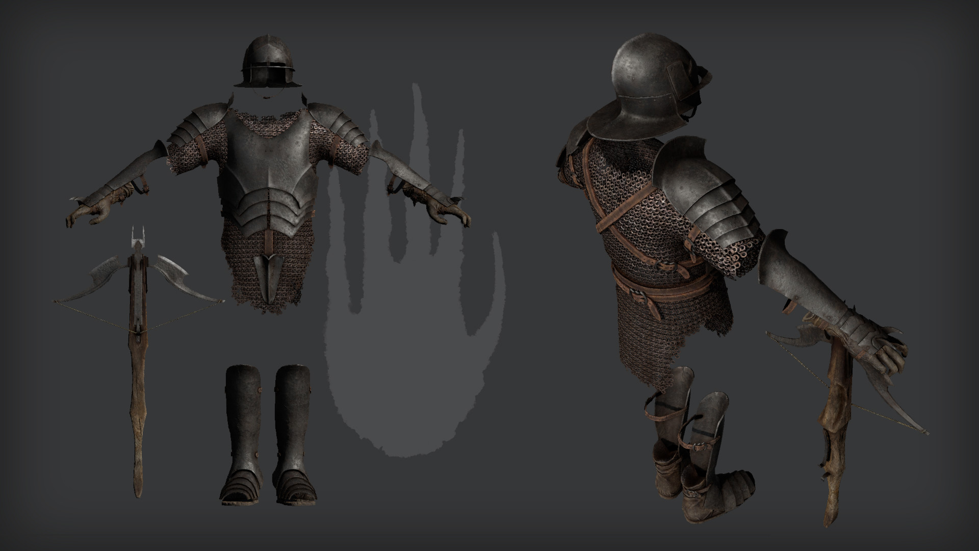 Crossbowman rendered in 3DO