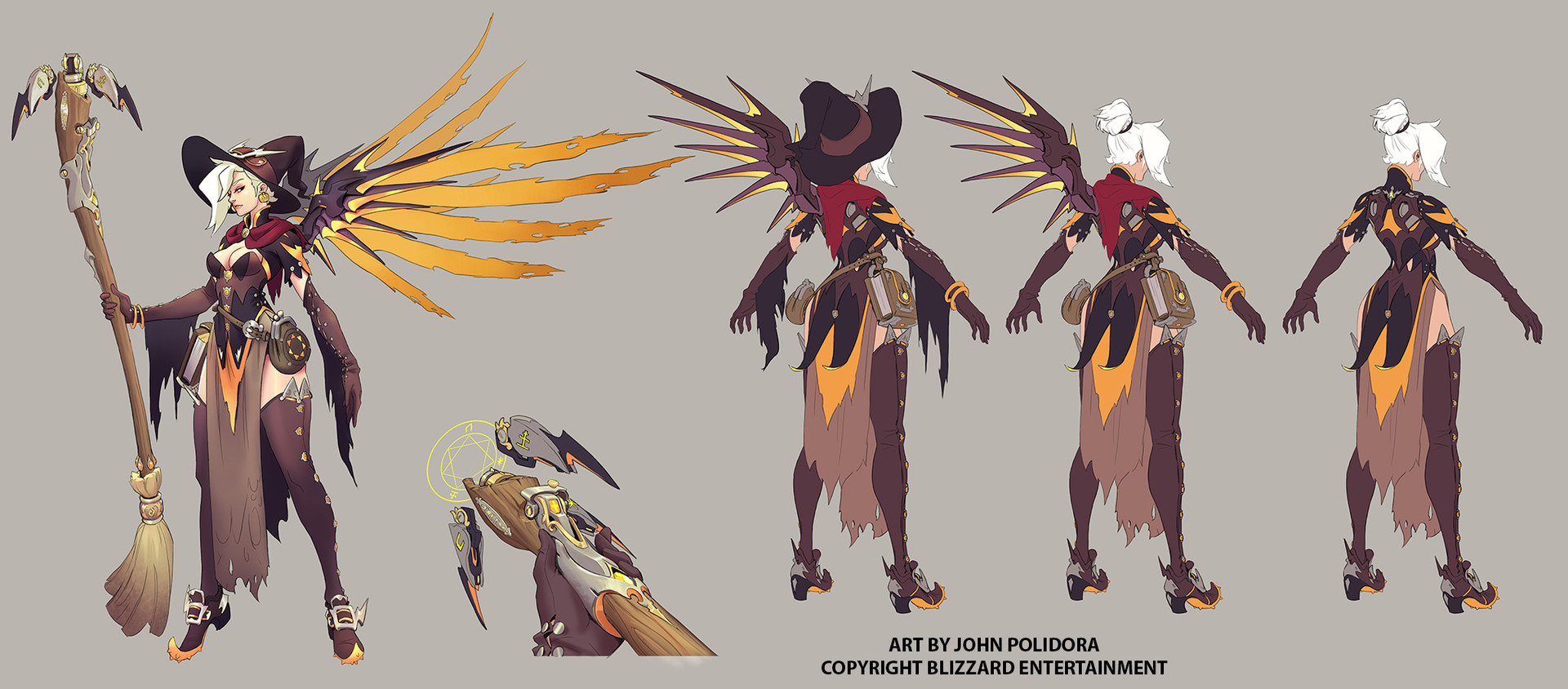 Character Design Artist Job Description : Artstation witch mercy concept john polidora