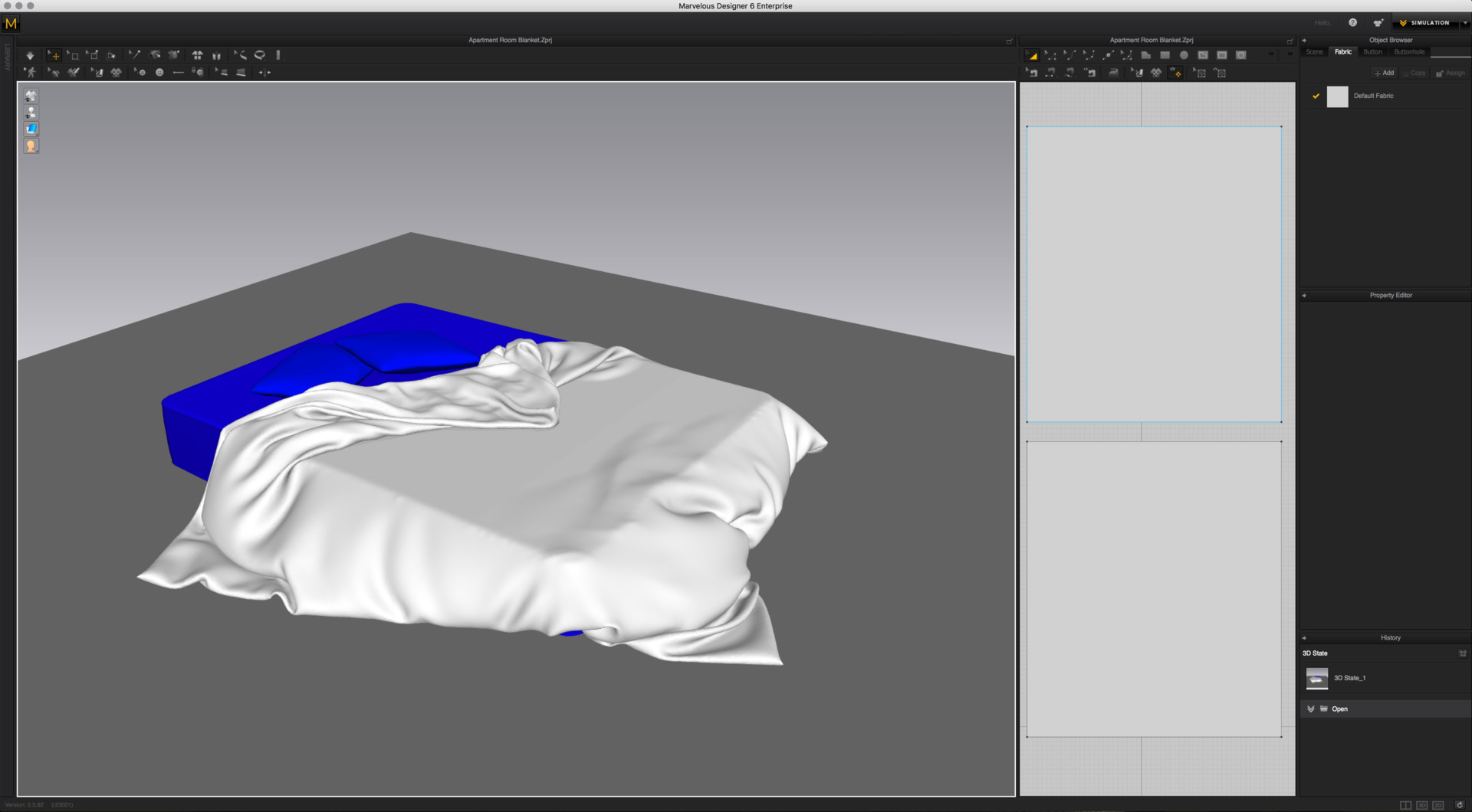 Bedsheet and Pattern in Marvelous Designer