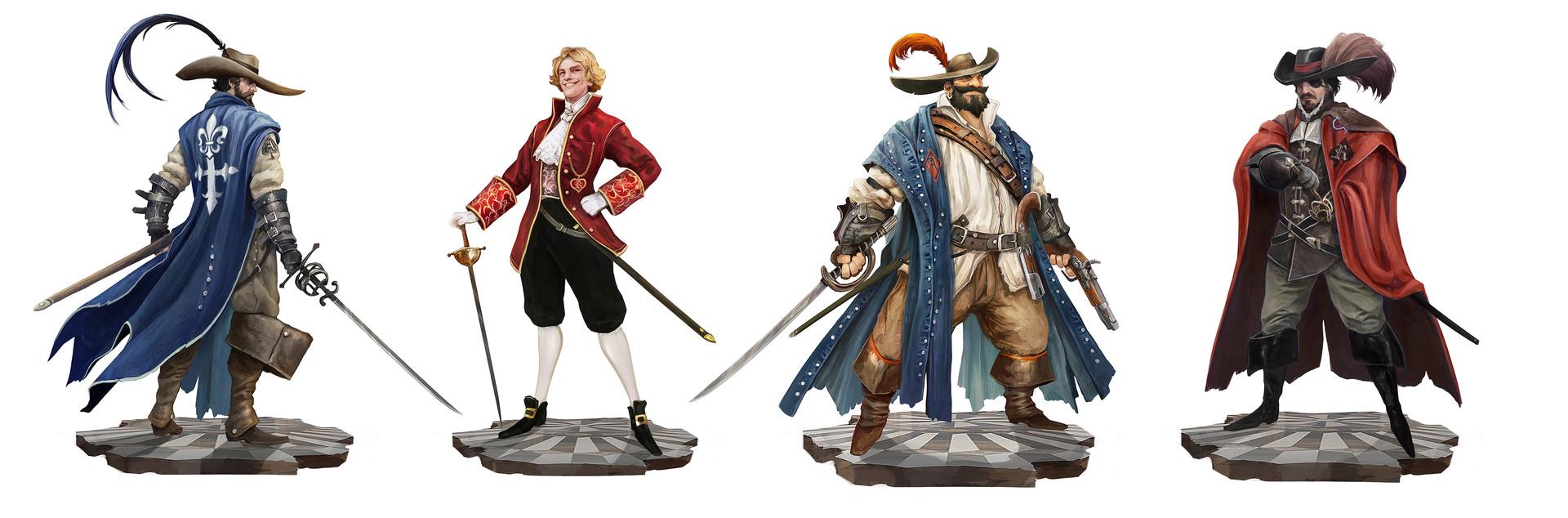 Alexandre chaudret nola characters folio lineup man