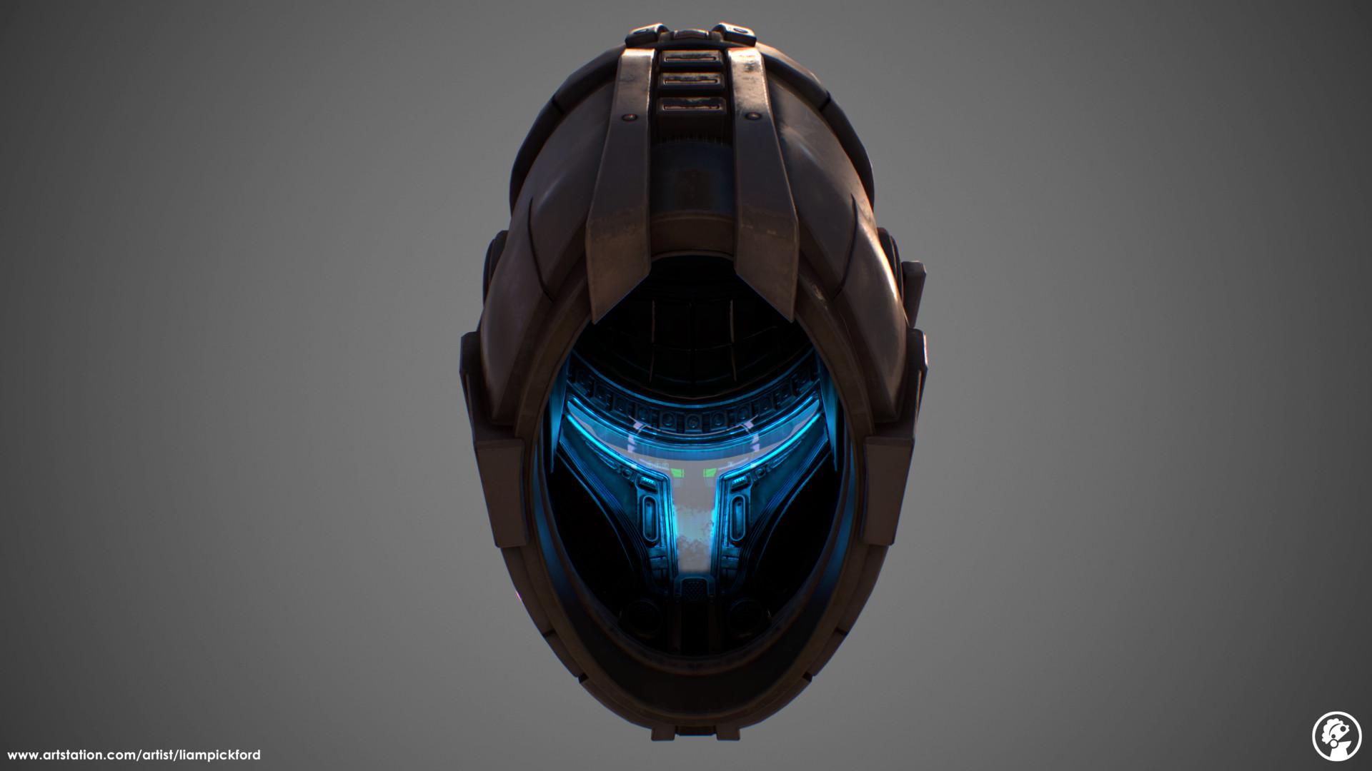Artstation Republic Commando Helmet With Hud Interior Liam Pickford