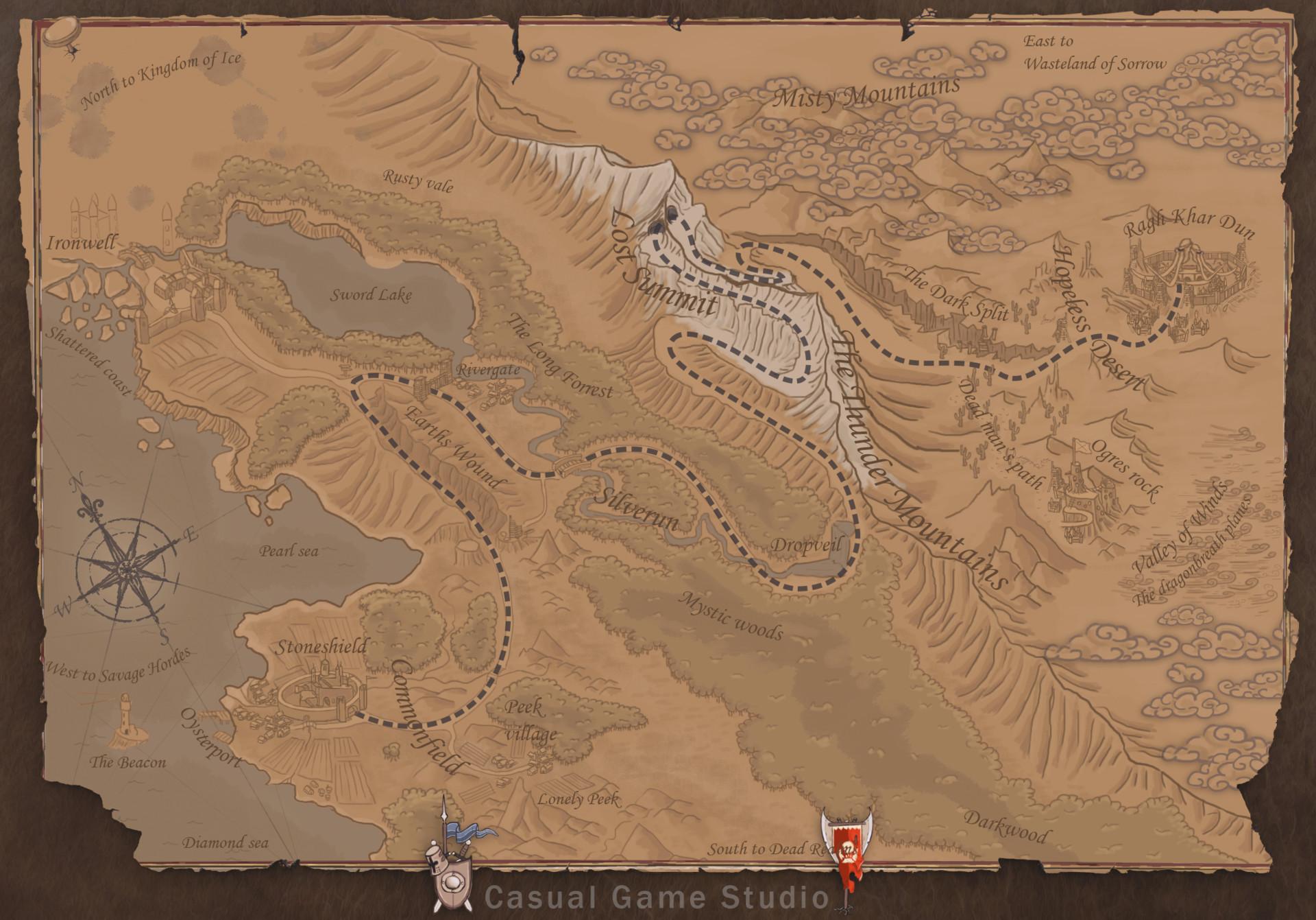 ArtStation - Tower Defense Game Campain Map, Boris Stajic on