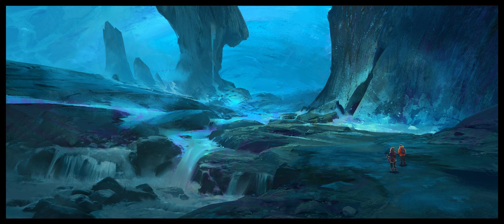 ArtStation - Ark Ice Caves , Sebastian Kowoll