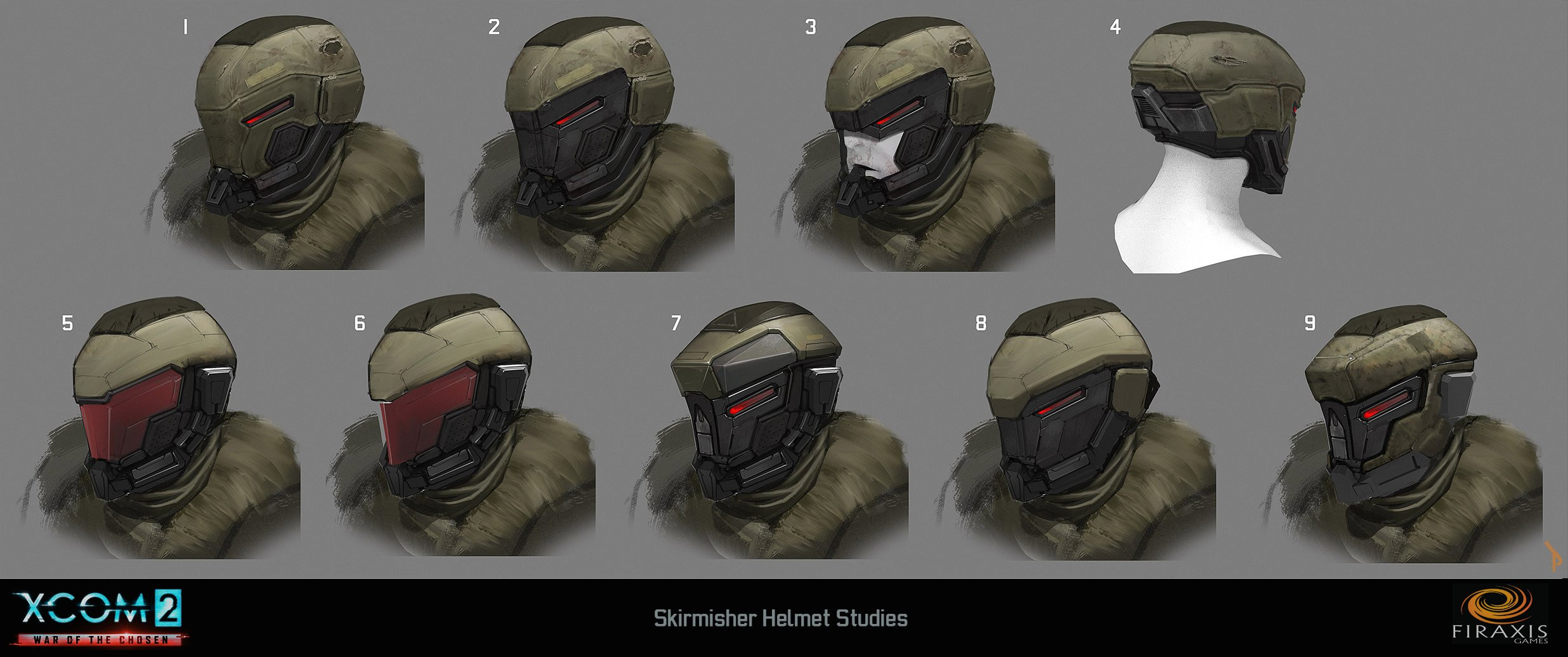 Skirmisher helmet variations