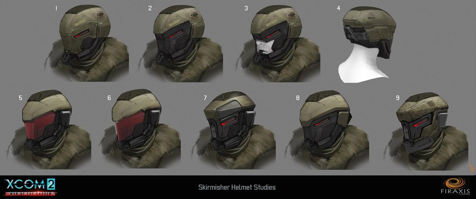 Skirmisher helmet variations