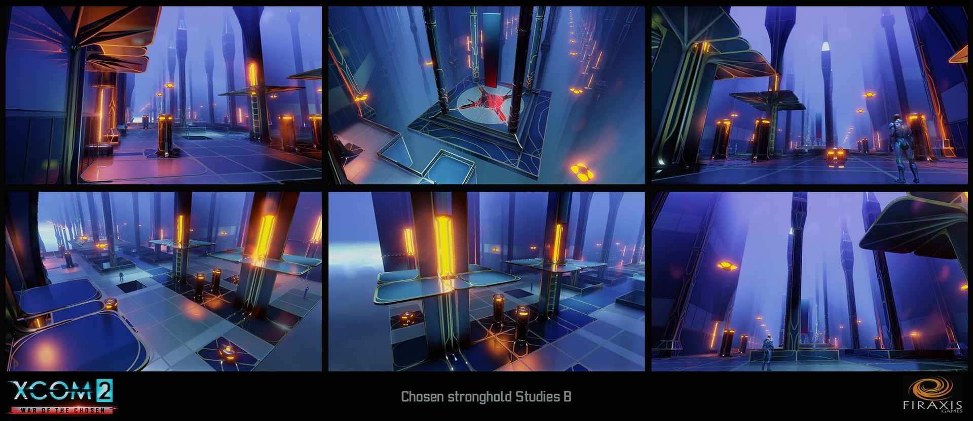 Chosen Stronghold - Concept 3D blockouts with color