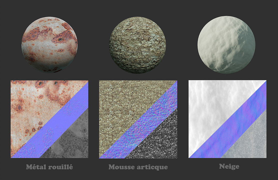 Some shaders and textures I did for the project.