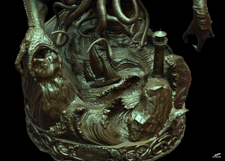 Dope pope zcthulhu bronze 1 32
