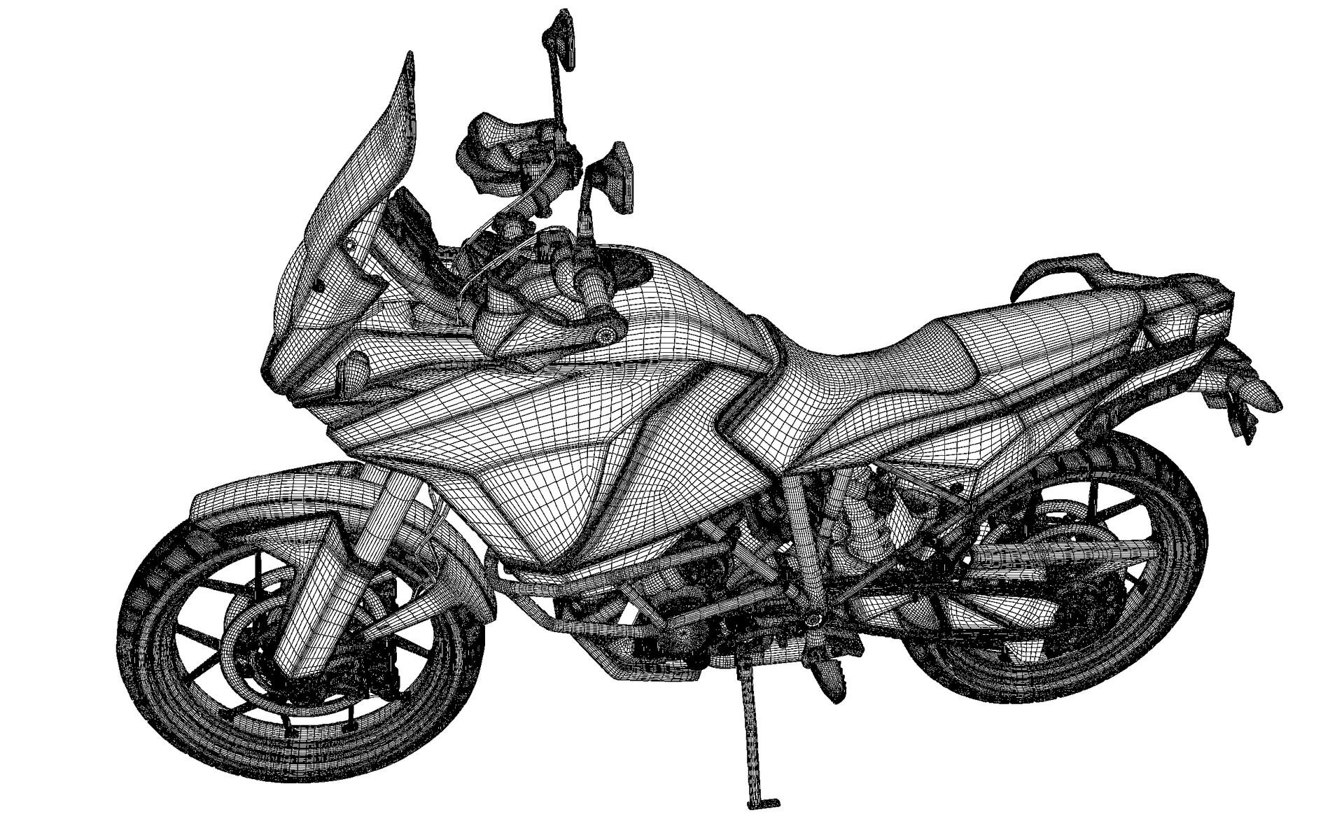 Philip hogg motorbike wireframe jpg